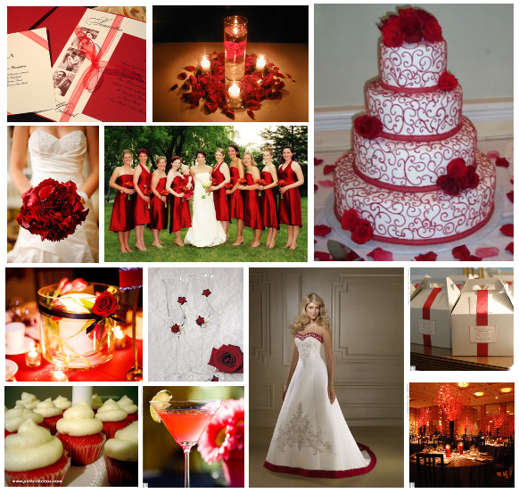 To be white or to be red Red wedding theme inspiration wedding red