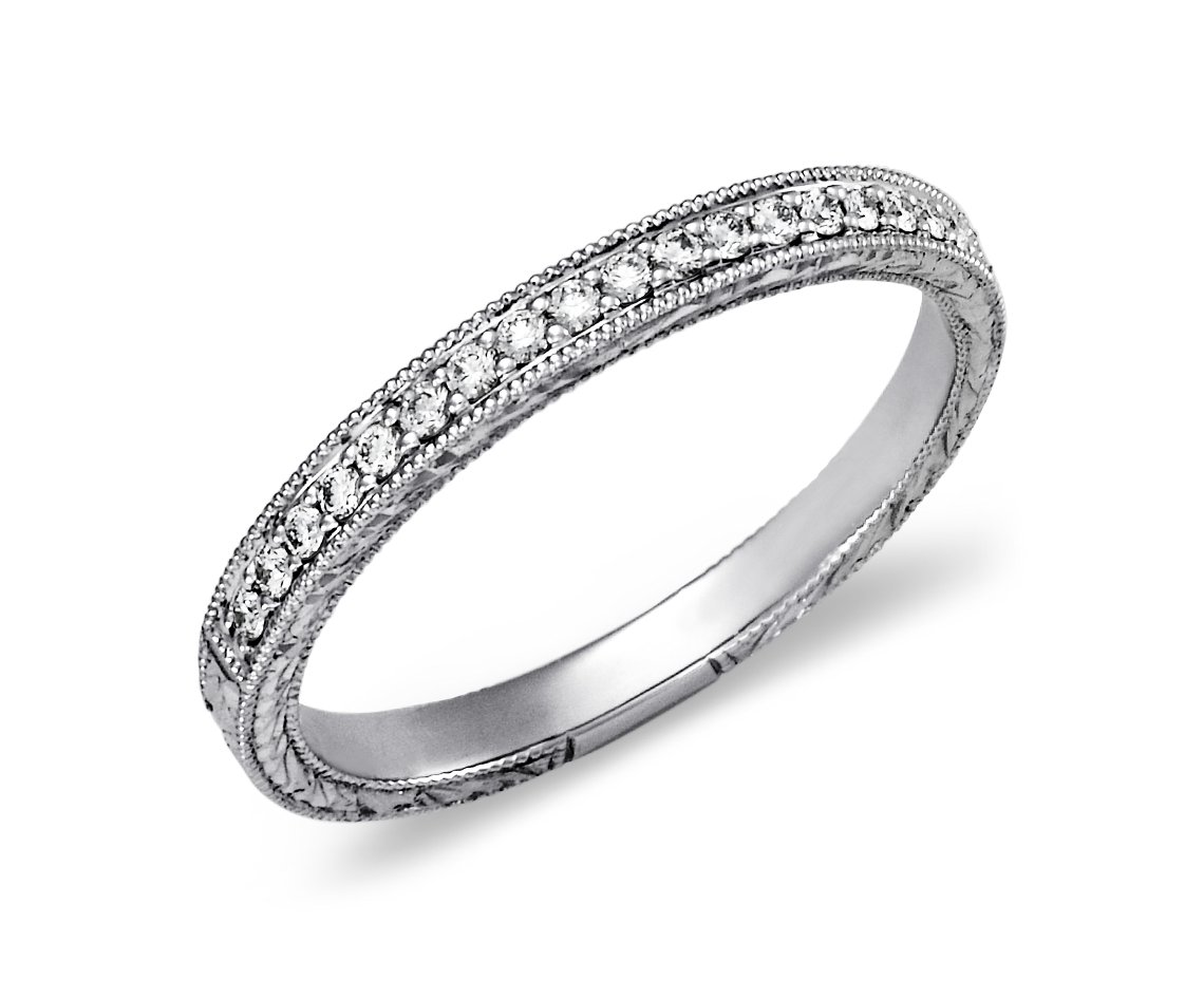 vrai web simple and products diamond p bands ring gold solid pave rose petite band engagement oro white