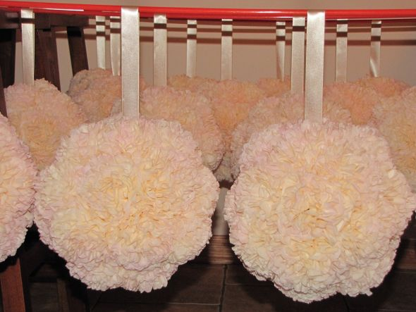 my pomanders are done! :  wedding IMG 4251