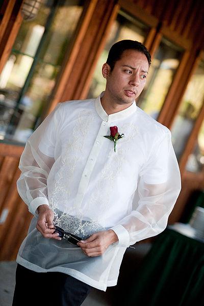 My dad wants to wear a barong (Filipino Shirt) to my wedding
