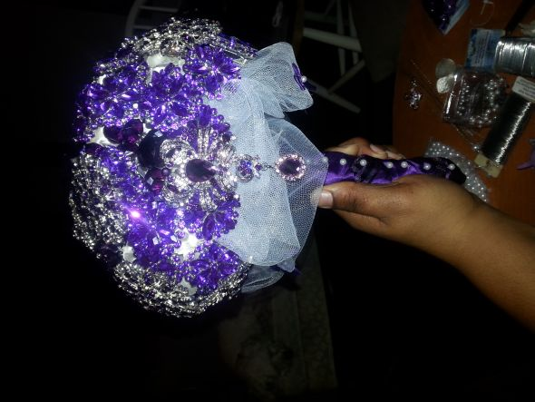 FINISHED PRODUCT!!! PURPLE BROOCH BO