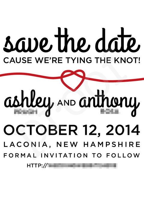 our save the date design