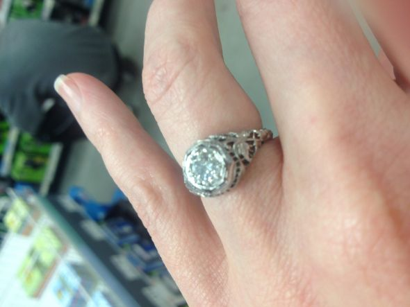 My antique engagement ring!