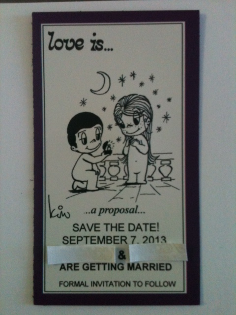 LOVE IS..... SAVE THE DATE MAGNET