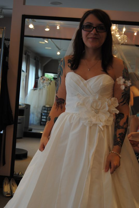 Visible tattoos in wedding dress weddingbee for Tattoos and wedding dresses