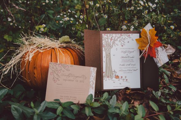 My DIY Fall Wedding Invitations