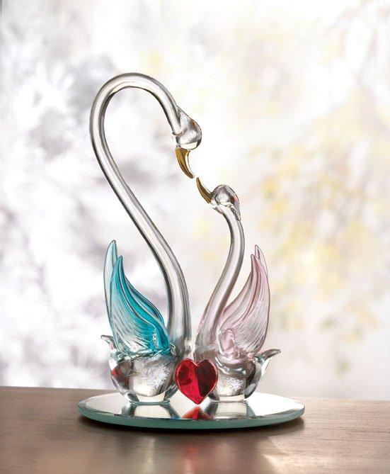 Spun Glass Wedding Cake Toppers