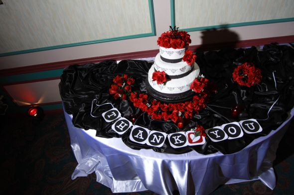 Damask themed cake
