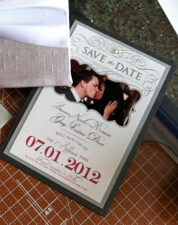 My DIY Save the Date Magnets