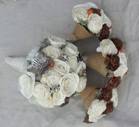 DIY bouquets,boutineers,fauxquet,wrist corsage,brooch sola tapioca wood flower :  wedding bouquet boutineers brooch ceremony diy fauquet sola tapioca flower wood flower wrist corsage Bouquets