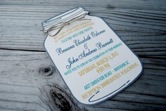 Mason Jar Invites