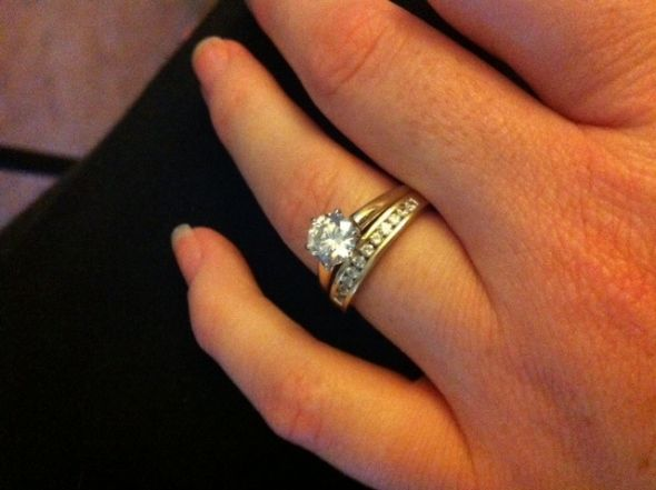 I Feel That The Band May Be Too Thick For Engagement Ring My Other Option Is To Two 2mm Bands In Same Style But With Smaller Diamonds And Have