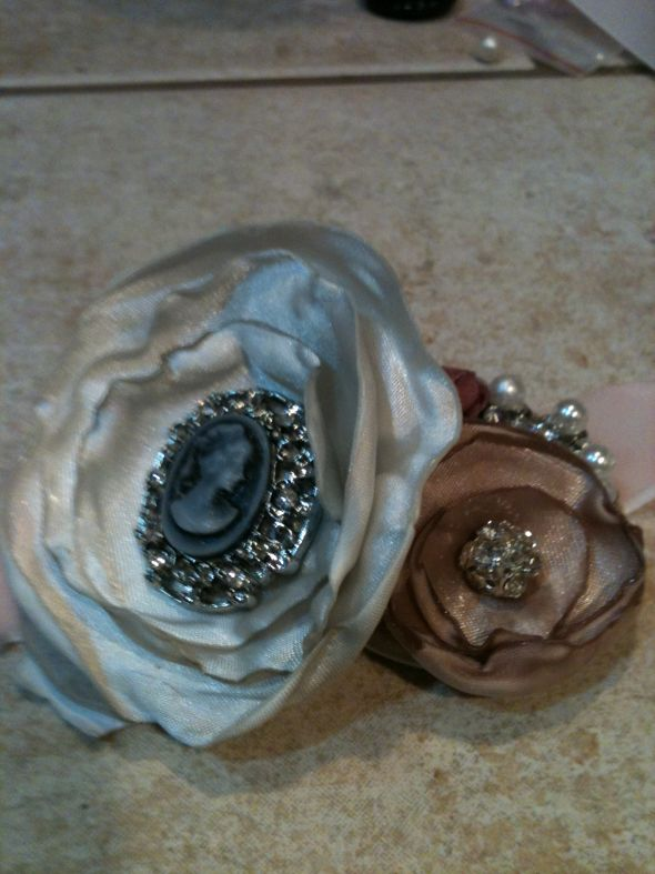 vintage inspired mother and grandmother corsage :  wedding bouquet flowers inspiration ivory jewelry pink Phone Imports 111