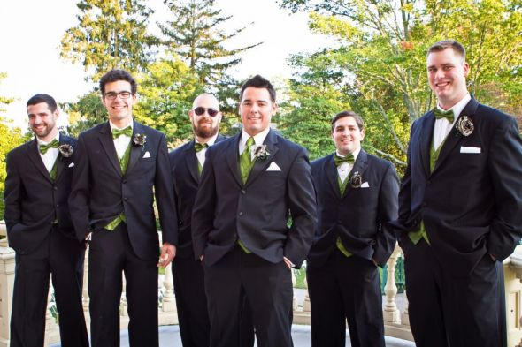 Groom and groomsmen Olive green