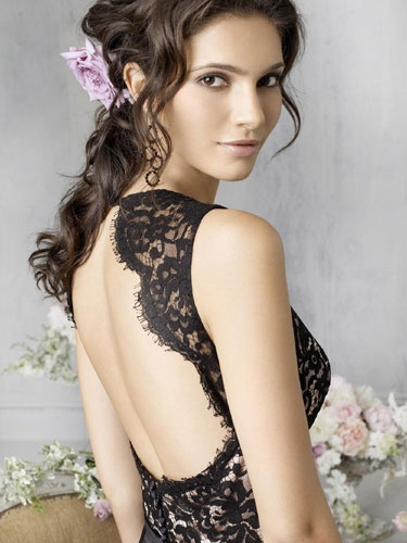 "Black Lace ""wedding"" dress HELP"
