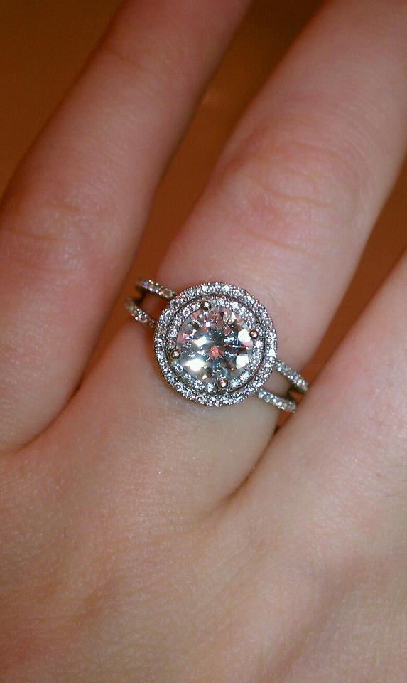 My Double Halo Engagement Ring!