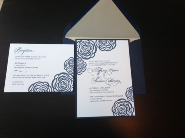 I just got my invitations in Anyone use bakers twine or ribbon to