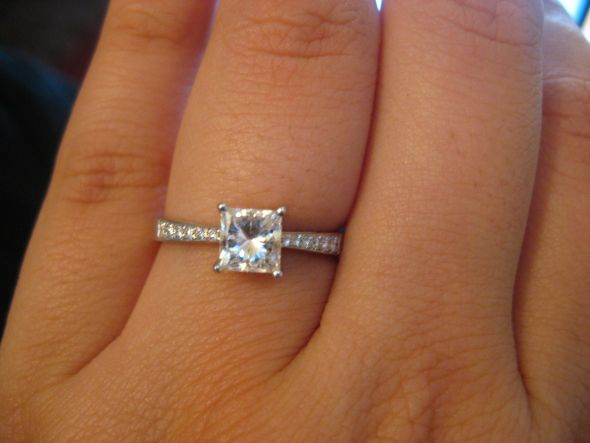 1 carat ring on finger quotes