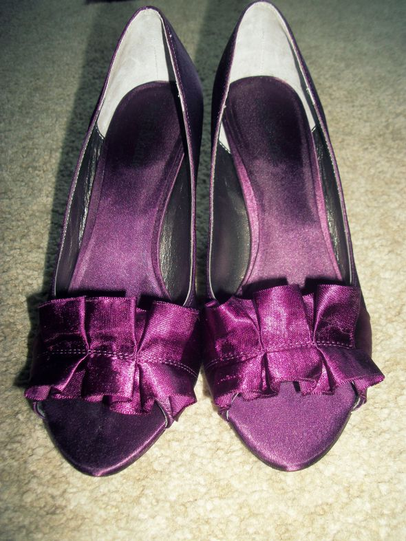 Purple Reception Pumps