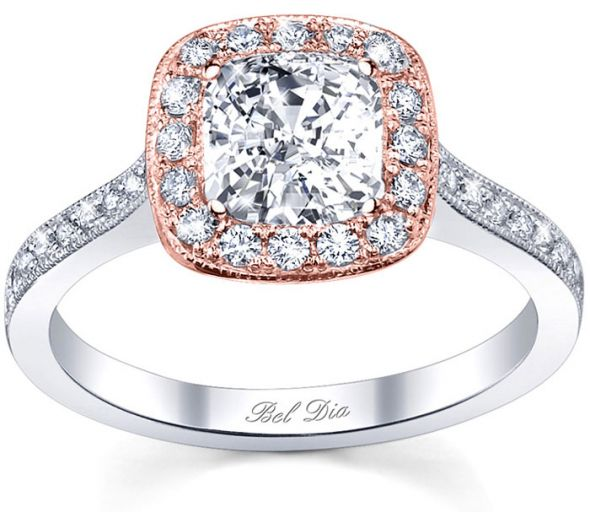 Rose Gold Engagement Rings Rose Gold Engagement Rings Halo Setting