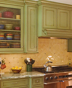 Painting Kitchen Cabinets Matt Weber Before & After: DIY Painted Colorful Kitchen Cabinets