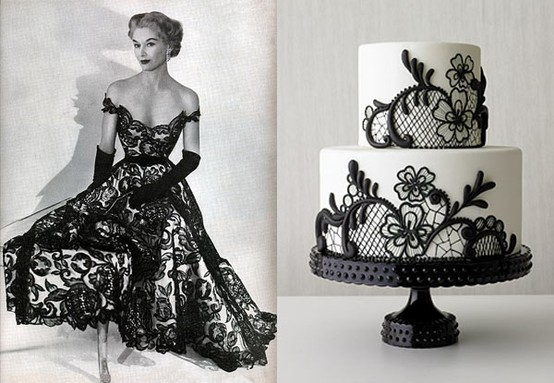 Help me find: Black Lace Vintage Wedding Dress!