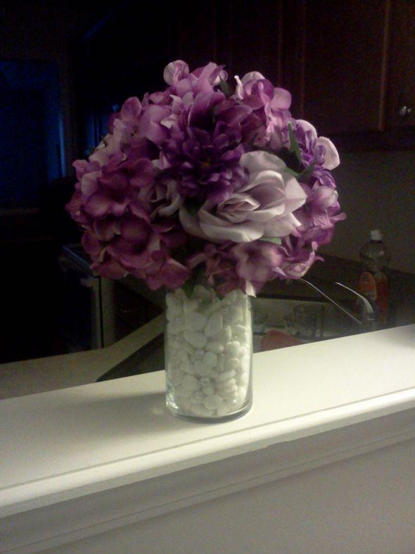 DIY Purple Wedding Centerpieces