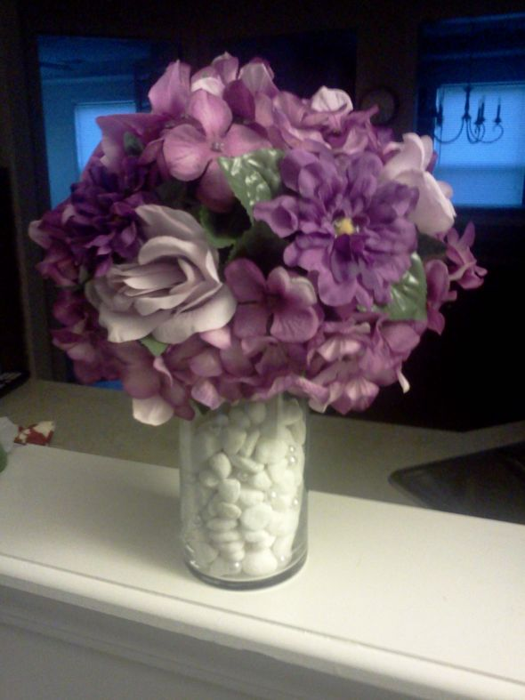 Purple Centerpieces | Weddingbee Photo Gallery