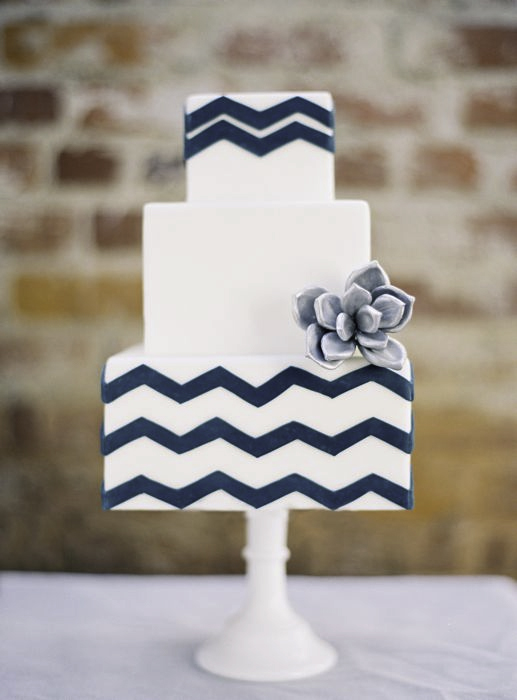 My Navy Blue Chevron Wedding!