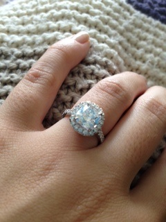 cushion cut micropave ring with halo