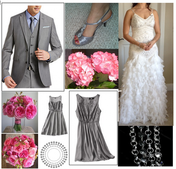 Pink/ gray wedding theme! Post your inspiration collages!