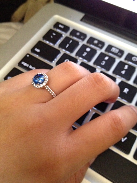 E-ring! :  wedding blue ring sapphire Photo 1