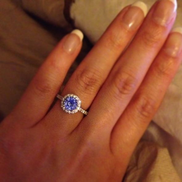 E-ring! :  wedding blue ring sapphire Photo 16