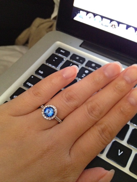 E-ring! :  wedding blue ring sapphire Photo 2