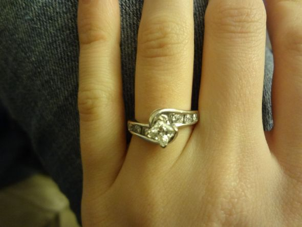 My beautiful ring! :  wedding ring NewYearsEve2012 141