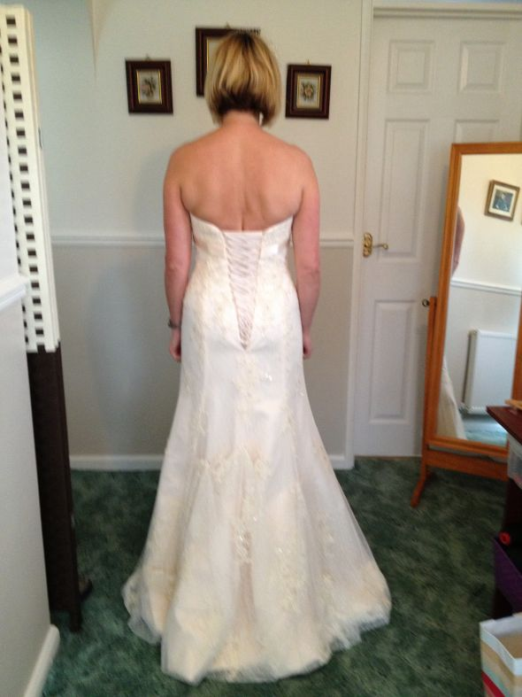 Oh no back fat pic for No back wedding dress