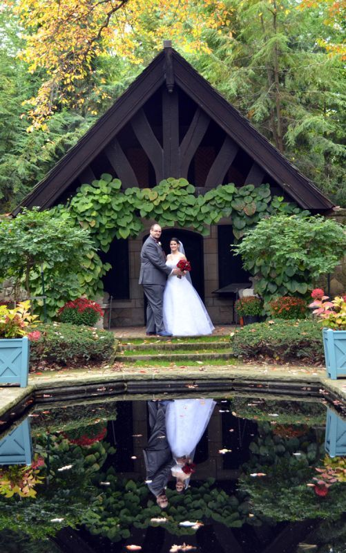 Our outdoor fall castle wedding! (Photo heavy) :  wedding autumn bridesmaids castle ceremony dress flowers inspiration makeup ohio outdoor purple red 001