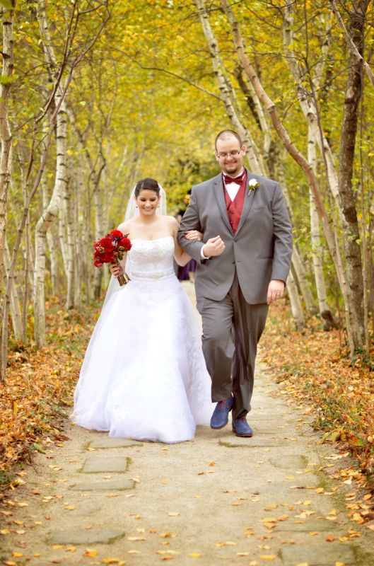 Our outdoor fall castle wedding! (Photo heavy) :  wedding autumn bridesmaids castle ceremony dress flowers inspiration makeup ohio outdoor purple red 111