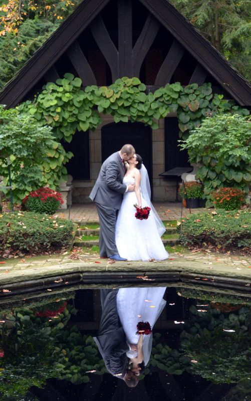 Our outdoor fall castle wedding! (Photo heavy) :  wedding autumn bridesmaids castle ceremony dress flowers inspiration makeup ohio outdoor purple red 141