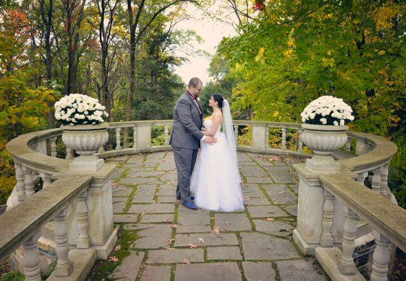 Our outdoor fall castle wedding! (Photo heavy) :  wedding autumn bridesmaids castle ceremony dress flowers inspiration makeup ohio outdoor purple red 158
