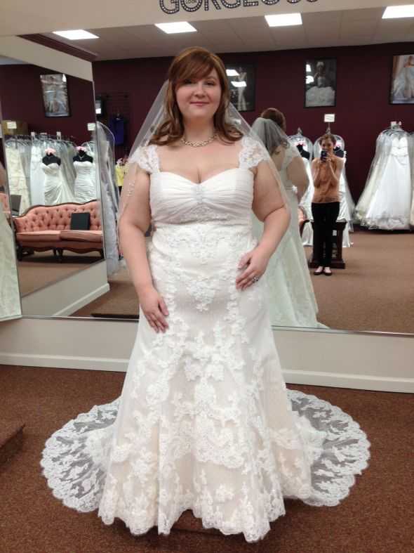 My Dress Is In Plus Size Lace Trumpet Pics