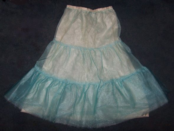 Aqua/Cream DIY Crinoline to Match Go