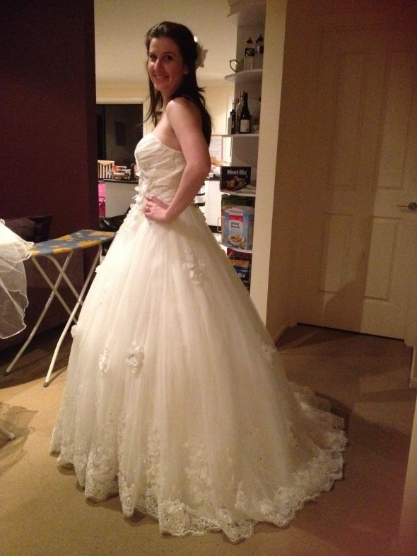 Pictures of my DHgate dress! Maggie Sottero knock off!