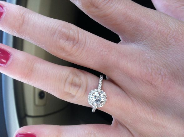 I M Also Considering Doing 2 Wedding Bands On Each Side Hoping This Won T Be Too Much Here Is A Pic Of My E Ring