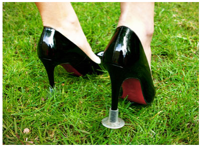 Shoe Heel Cover Grass