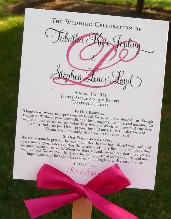 diy wedding ceremony programs