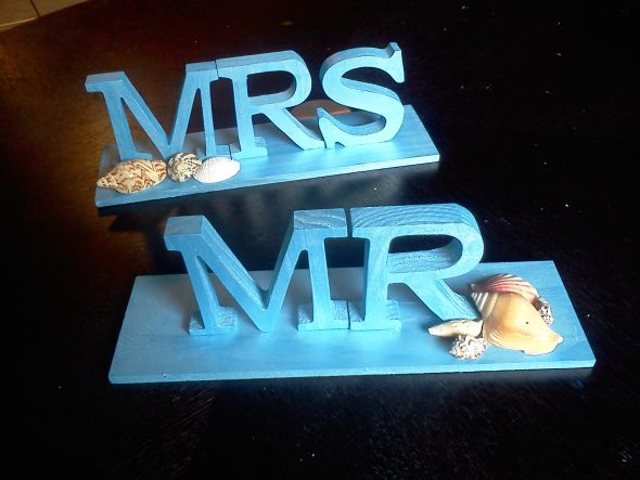 My beach wedding Mr. and Mrs. signs