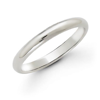 white gold wedding bands plain pictures