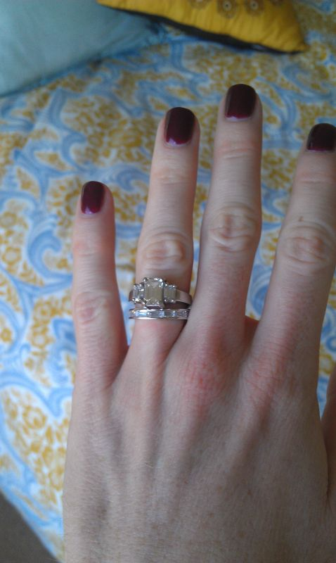 Help me pick a wedding band for my emerald cut ering