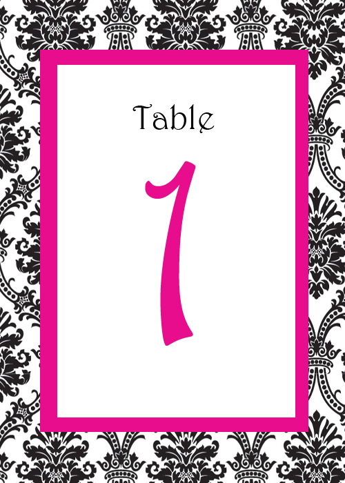 My DYI Damask Table Cards
